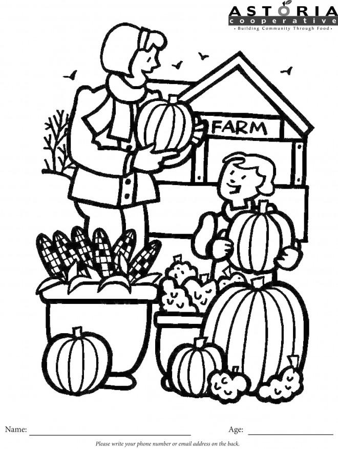 Coloriage et dessins gratuits Magasin de fruits et légumes à imprimer