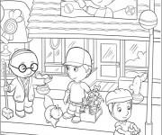 Coloriage et dessins gratuit Magasin Dessin animé à imprimer