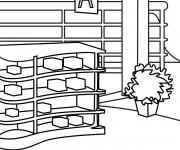 Coloriage et dessins gratuit Magasin en ligne à imprimer