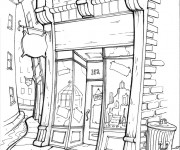 Coloriage Magasin vectoriel