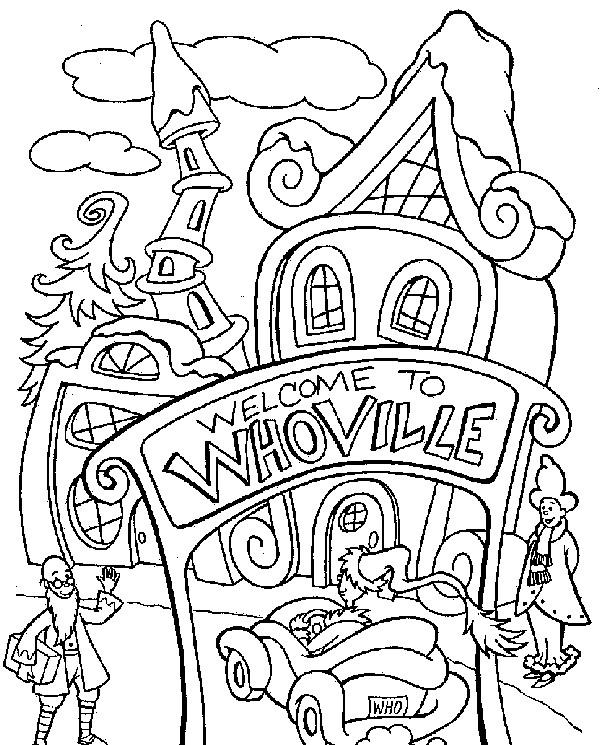 Coloriage et dessins gratuits Magasin WhoVille à imprimer