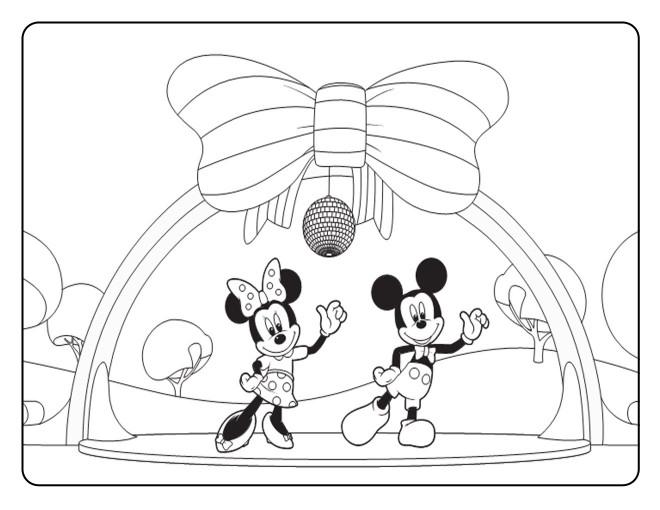 Coloriage Mickey Et Minnie Mouse En Dansant Dessin Gratuit A Imprimer