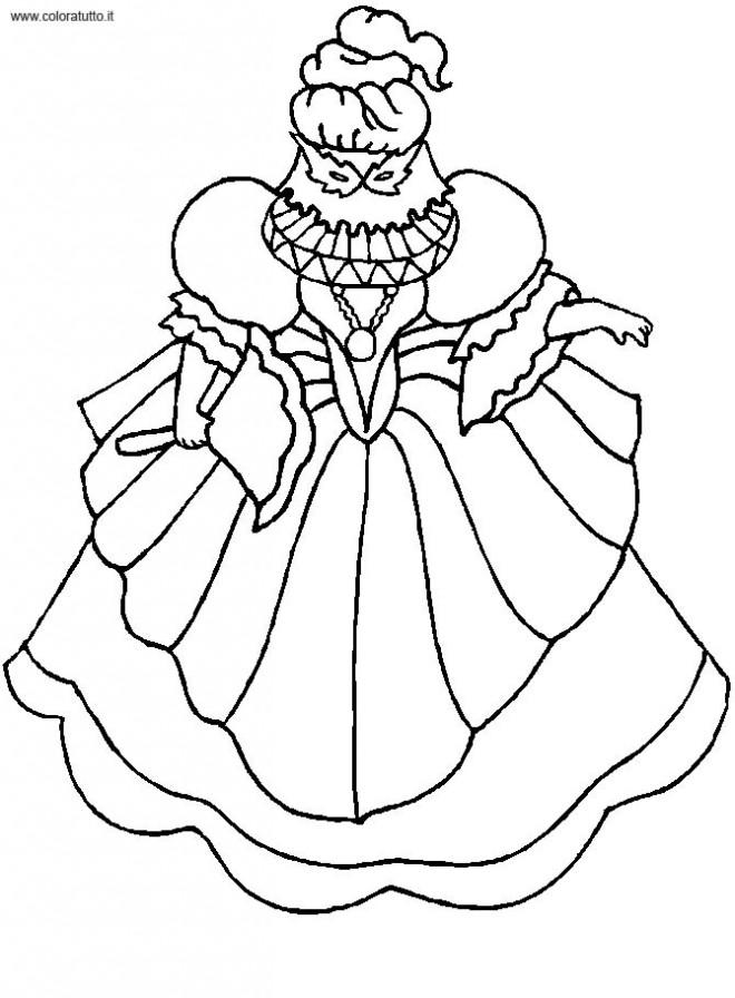 Coloriage et dessins gratuits Princesse porte Un Masque à imprimer