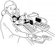 Coloriage et dessins gratuit Une caissière à imprimer