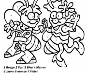 Coloriage et dessins gratuit Abeille Magique cp à imprimer
