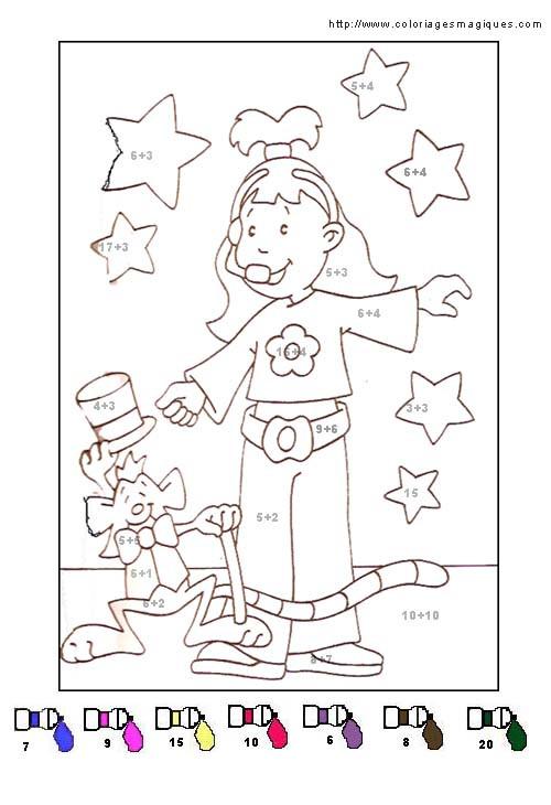 Coloriage et dessins gratuits Magique cp Addition pour enfant à imprimer