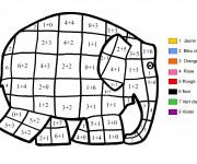 Coloriage et dessins gratuit Magique cp Éléphant et couleur à imprimer