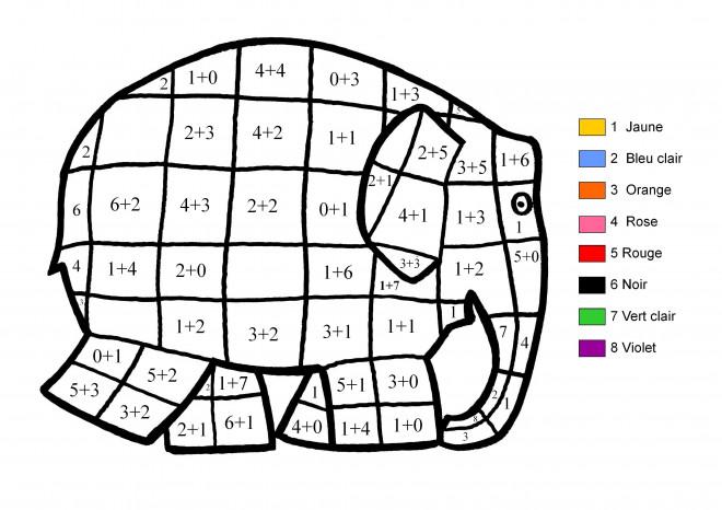 Coloriage et dessins gratuits Magique cp Éléphant et couleur à imprimer