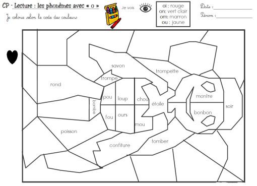 Coloriage et dessins gratuits Magique cp Lecture et Vocabulaire à imprimer