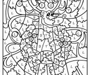 Coloriage et dessins gratuit Magique cp Lettres et Animaux à imprimer