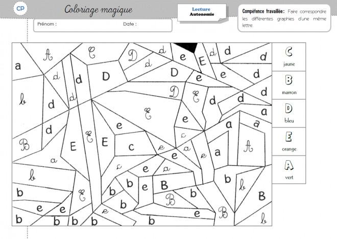 Coloriage Magique Cp Magique Lettres Dessin Gratuit A Imprimer