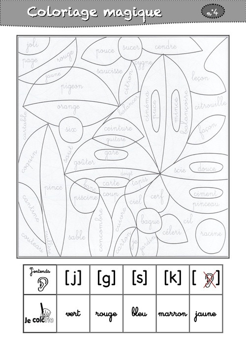 Coloriage Magique cp Prononciation dessin gratuit à imprimer