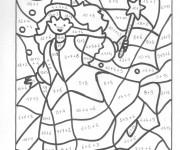 Coloriage et dessins gratuit magique sorcière en couleur à imprimer