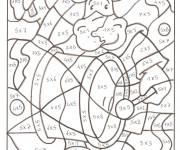 Coloriage et dessins gratuit Magiques soustraction couleur à imprimer