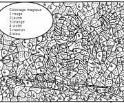 Coloriage et dessins gratuit Magique à découper à imprimer