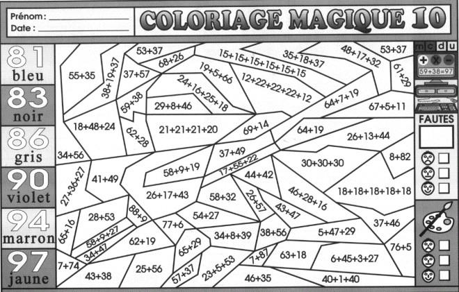 Coloriage et dessins gratuits Magique Addition à imprimer