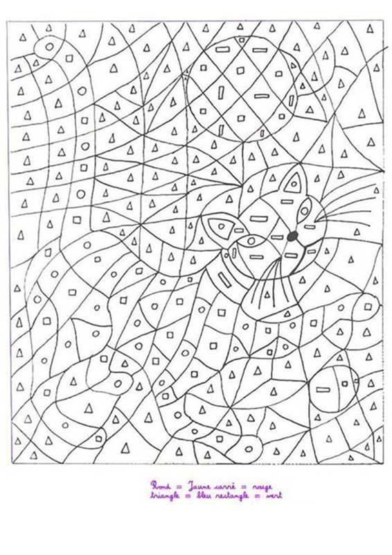 Coloriage magique chat dessin gratuit imprimer - Coloriage de requin a imprimer gratuit ...