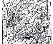 Coloriage et dessins gratuit Magique Multiplication à imprimer