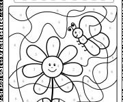 Coloriage Magique numération d'une fleur