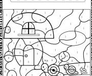 Coloriage et dessins gratuit Magique Numération Escargot à imprimer