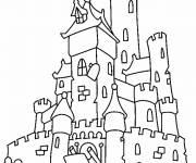 Coloriage Château ancien simple