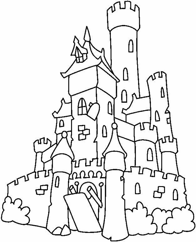 Coloriage et dessins gratuits Château ancien simple à imprimer