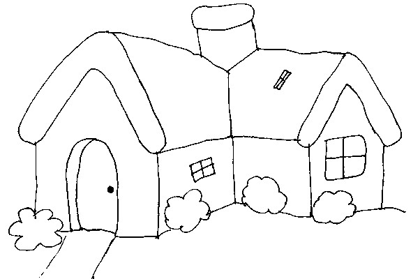 Coloriage et dessins gratuits Cottage  facile à imprimer
