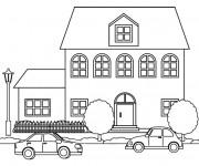 Coloriage Maison à colorier en carton