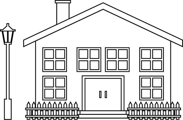 Coloriage et dessins gratuits Maison à décorer à imprimer