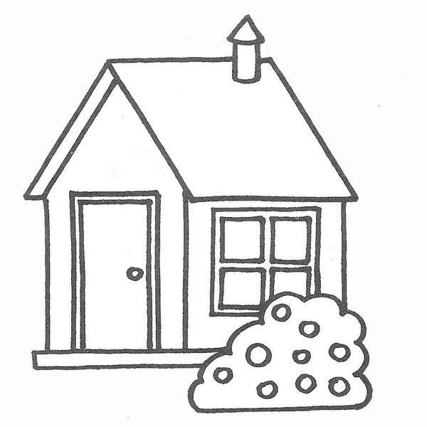 Coloriage Maison Avec Une Cheminee Dessin Gratuit A Imprimer