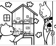 Coloriage Maison Dessin animé