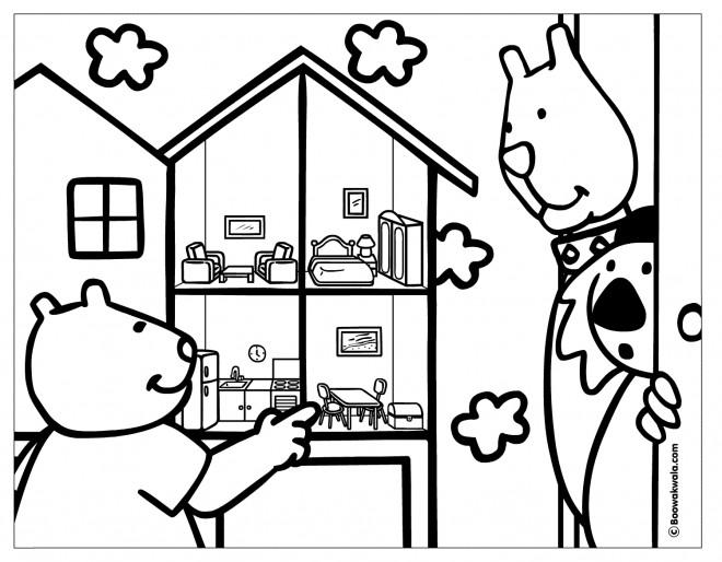Coloriage et dessins gratuits Maison Dessin animé à imprimer