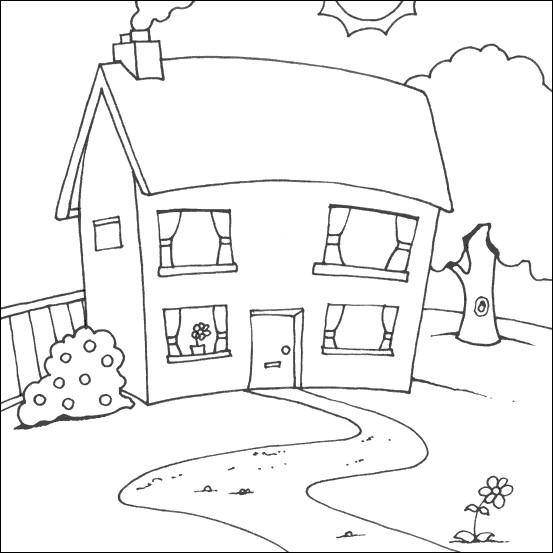 Coloriage et dessins gratuits Maison en ligne à imprimer
