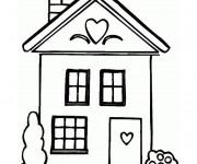 Coloriage Maison en vecteur