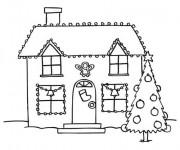 Coloriage Maison et La Décoration Noel