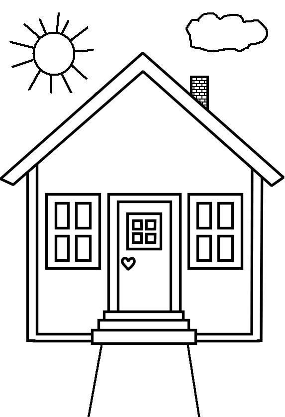 Coloriage et dessins gratuits Maison maternelle à imprimer