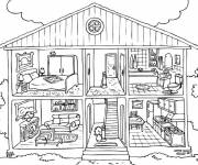 Coloriage Maison modèle à colorier
