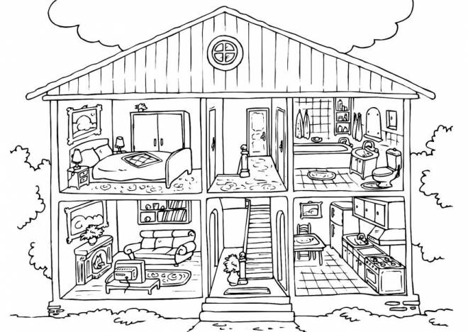 Coloriage et dessins gratuits Maison modèle à colorier à imprimer