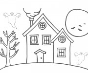 Coloriage Maison simple