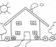 Coloriage Maison stylisé