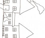 Coloriage dessin  Maisons 17