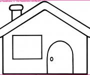 Coloriage dessin  Maisons 2