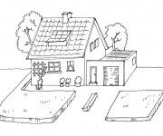 Coloriage dessin  Maisons 20