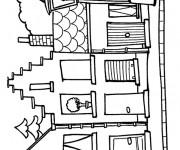 Coloriage dessin  Maisons 21