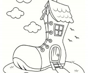 Coloriage dessin  Maisons 23