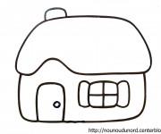 Coloriage dessin  Maisons 5