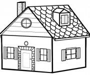 Coloriage dessin  Maisons 6