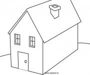 Coloriage dessin  Maisons 7