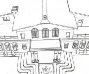 Coloriage et dessins gratuit Une Maison extraordinaire à imprimer