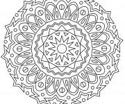Coloriage et dessins gratuit Adulte Mandala 16 à imprimer